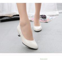 Heels 5CM Slip on Round Toe Women Pumps Work Office Dress Shoes Sexy Ladies Single Shoes