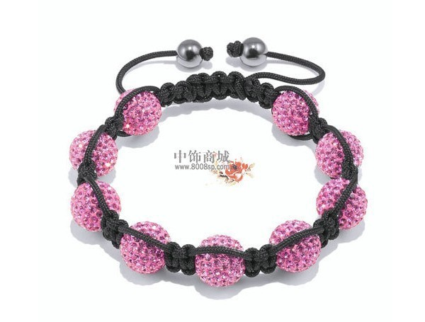 Shamballa jewelry Wholesale New Crystal Shamballa Bracelets Micro Pave CZ Disco Ball Bead Free shipping  FWE366