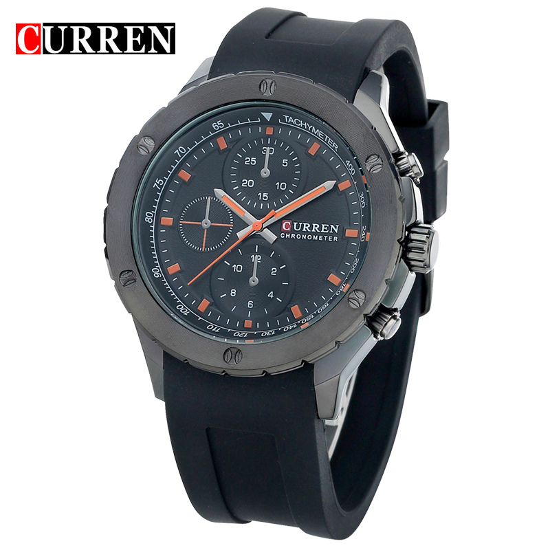 Curren Men Sports Watches Classic Simple Quartz Watch Mens Wristwatches Top Brand Luxury Silicone Band relogio Masculino8165(China (Mainland))