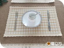 30*45CM  vintage modern thickened cotton table mat Western-style food cup pad original manual handmade tablemat(China (Mainland))