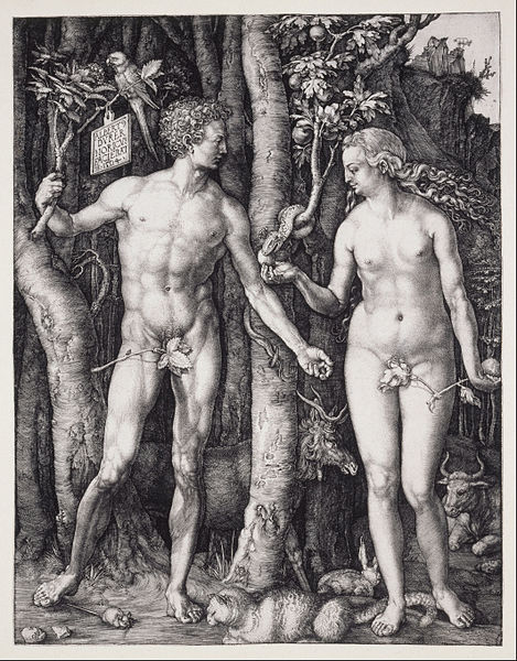 Canvas Art Prints Stretched Framed Giclee World Famous Artist Oil Painting Albrecht Durer Fall Of Man Adam Eve(China (Mainland))