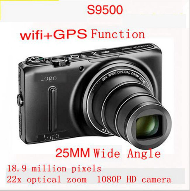 The new DHL free shipping S9500 1080P HD with WIFI, GPS 1800 million pixels, 22x optical zoom, SLR digital cameras(China (Mainland))