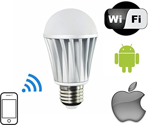 smart led light bulb wifi controlled smart bulb 7w e27 e26 110v 220v. Black Bedroom Furniture Sets. Home Design Ideas