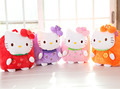 Gift for baby 1pc 30cm cartoon fruit hello kitty plush backpacks infant super cute candy shoulder