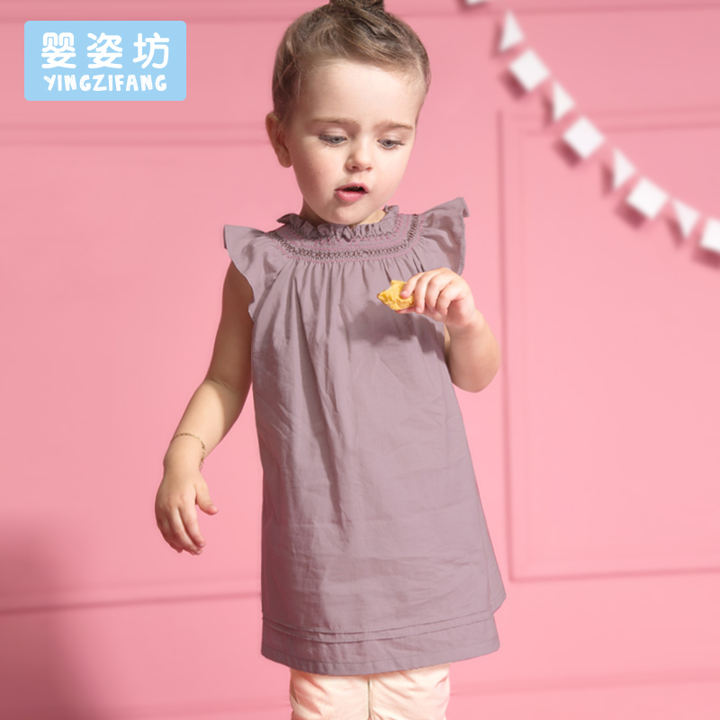 2016 New Summer Baby Girls Suits 2 pcs Fashion Casual Lotus Leaf Collar Clothing Dresses Sets Bow Tops Suit Dresses(China (Mainland))