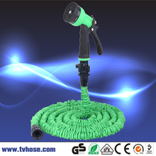 25ft Expandable Magic flexible Hose Water Garden Hose with 8 Pattern Spray Gun(China (Mainland))