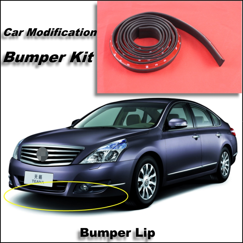 Bumper Lip For Nissan Teana J31 J32 L33 Front Spoiler Skirt / Bumper Kit / Deflector Lips Car Scratch Proof Adhesive Strip<br><br>Aliexpress