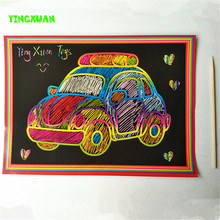 Clearance Sale 10piece/lot 19*26cm Large Size Scratch Cards Single Face Scraping Art Picture Set Children's Drawing Toys(China (Mainland))
