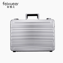 Feixueer Aluminium magnesium alloy briefcase High-end box file Portable suitcase card Limit the challenger bags Laptop bag(China (Mainland))
