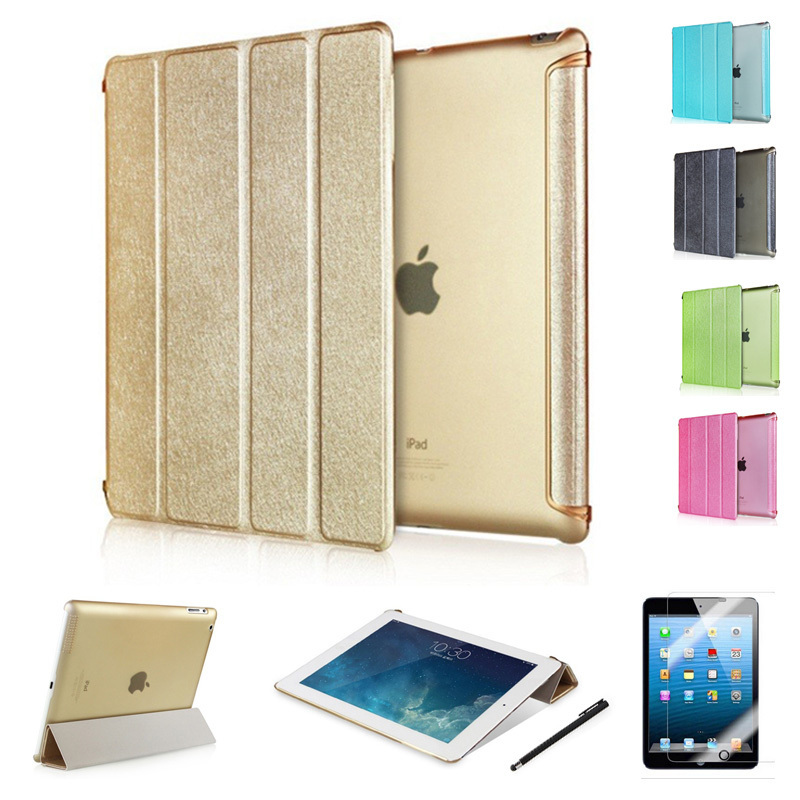 Top Quality Luxury Fashion Business Intelligent Sleep Flip Pu Leather Cases Smart Cover Stand For Ipad 2 3 4 air 1 2 Capa Cover(China (Mainland))