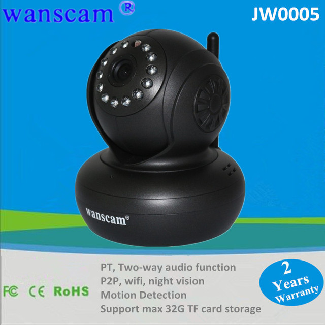 Mini 32G TF Card Support P2P Wireless WIFI Internet Network IP Security Camera With Night Vision Infrared Dual Audio Pan/Tilt