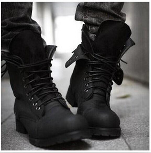 Гаджет  Hot Sale ! New Fashion Retro Punk Combat boots Winter England-style Casual shoes Men