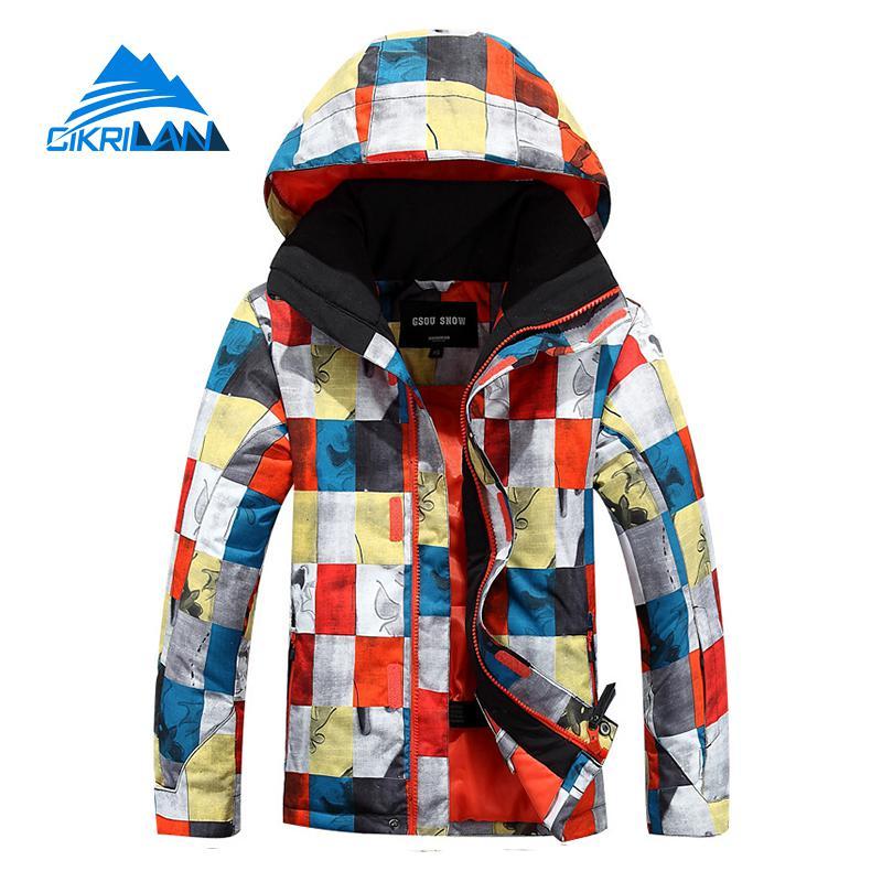 Hot Sale Kids Winter Waterproof Windstopper Snowboard Ski Outdoor Jacket Boys Breathable Skiing Hiking Cotton Padded Parka Coat(China (Mainland))