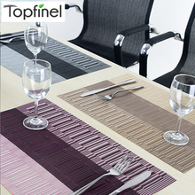 Top Finel Set of 8 PVC Kitchen Dinning Bamboo Table Placemats for Table Mat Manteles Individuales Doilies Cup Mats Coaster Pad(China (Mainland))