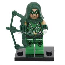 Green Arrow Minifigures XINH 041 Marvel Super Heroes The Avengers Building Block Sets Model Bricks Toys For Children