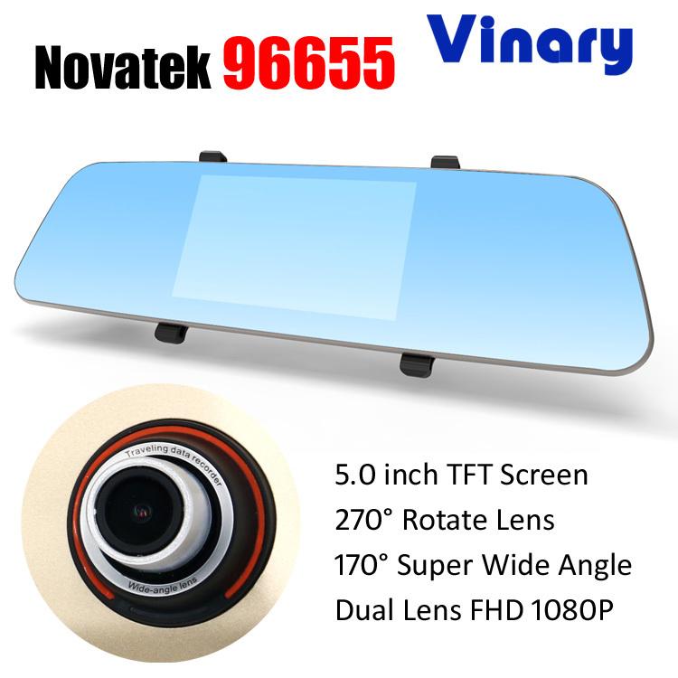 Автомобильный видеорегистратор Vinary 96655 5.0 FHD 1080P dvr 170