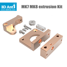 Newest Free shipping DIY 3D printer accessories MK7 MK8 extruded aluminum block kit i3 extruder