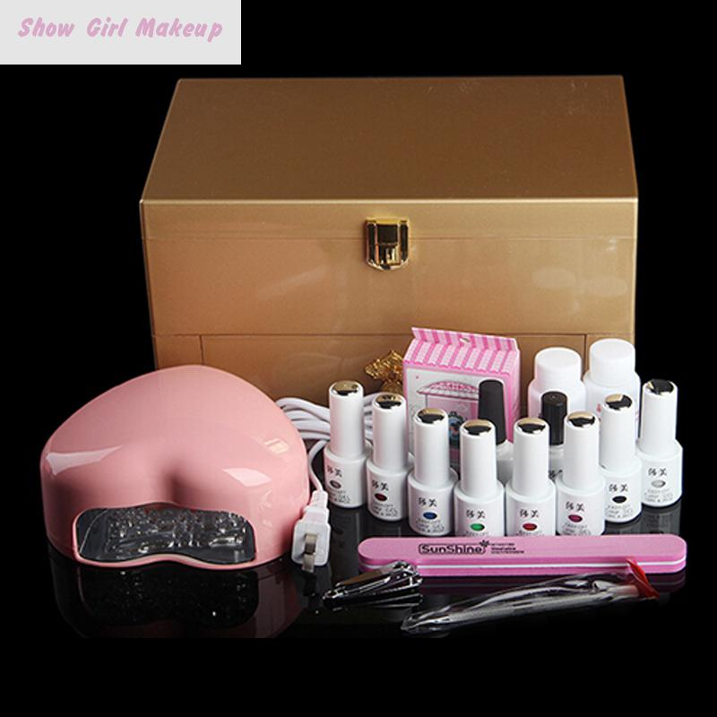 8 Colors Uv Gel Nail Polish With UV Lamp Manicure Tool Set+ Bags Cosmetics Case Kit Ongles Gel Lot Vernis A Ongle Uv DIY Gift<br><br>Aliexpress