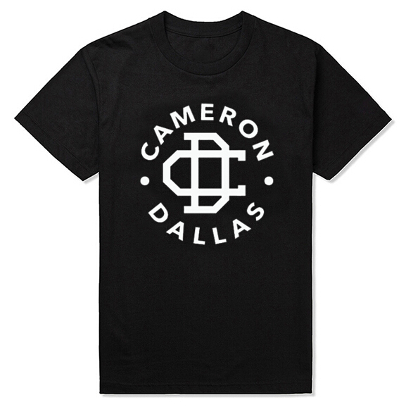 Free shipping CAMERON DALLAS cotton leisure T-shirt man tshirt euro size short sleeve O neck t-shirts wholesale crime(China (Mainland))
