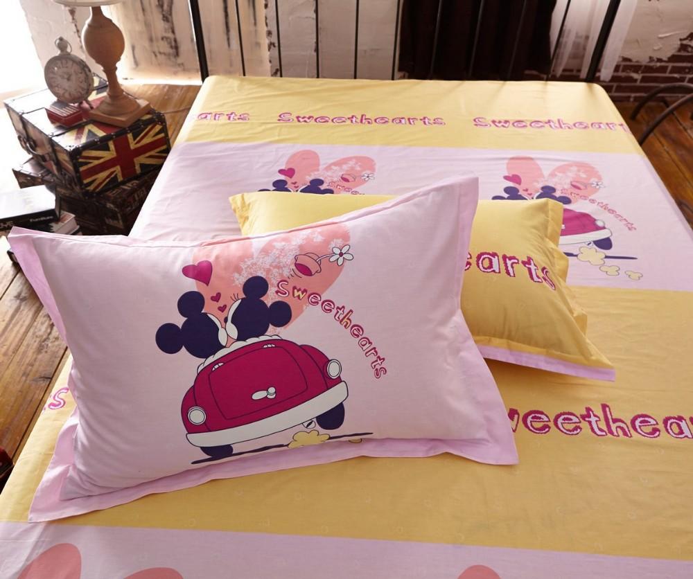 Completo letto minnie e topolino copripiumino lenzuola federa cuscino due misure ebay - Completo letto minnie e topolino ...
