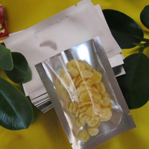 5*7cm Plain Pocket Translucent Aluminum Foil Package Bags Pack Packing Bag Open Top Heat Seal Packaging Bag For Food Storage Bag(China (Mainland))