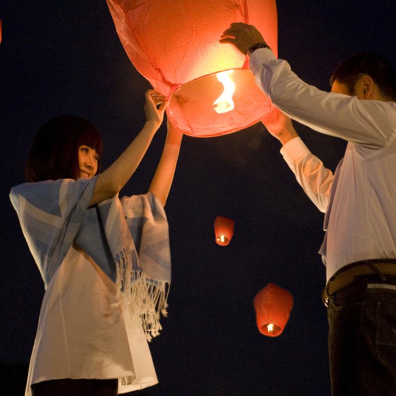 1000pcs/lot Chinese lantern Wishing Lantern,fire balloon Kongming lantern,skylantern flying lantern(China (Mainland))