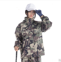 Sports burberry_ men Woman Raincoats Digital Camouflage Outdoor Jacket Double layer Waterproof Clothes Motorcycle Rainwear