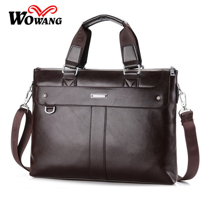 2016 British style Men's Business Briefcase Casual Shoulder Bag PU Leather Messenger Bag Computer Laptop Handbag Men Travel Bags(China (Mainland))