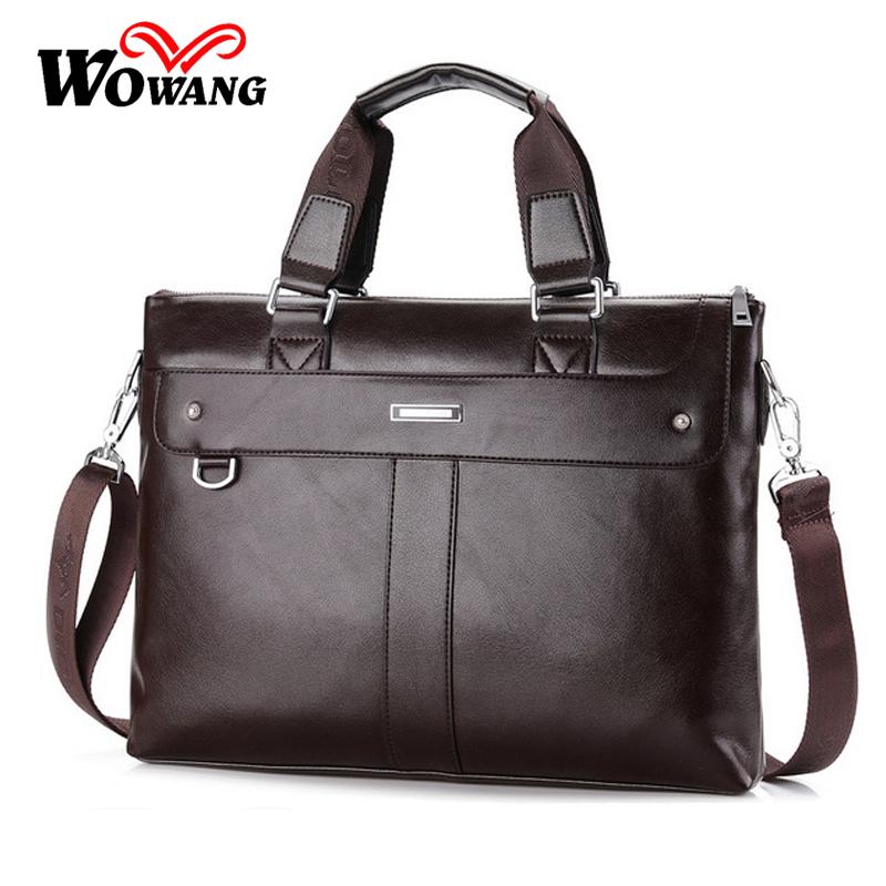 2016 British style Men's Business Briefcase Casual Shoulder Bag PU Leather Messenger Bag Computer Laptop Handbag Men Travel Bags(China (Mainland))