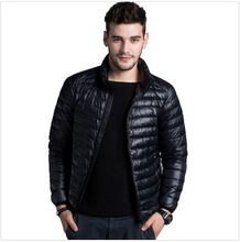 Winter Fashion Man Down Jacket Wine Red Thin Sports Outerwear Coat Brand Clothing Man Down Jacket Abrigos Hombres Invierno(China (Mainland))