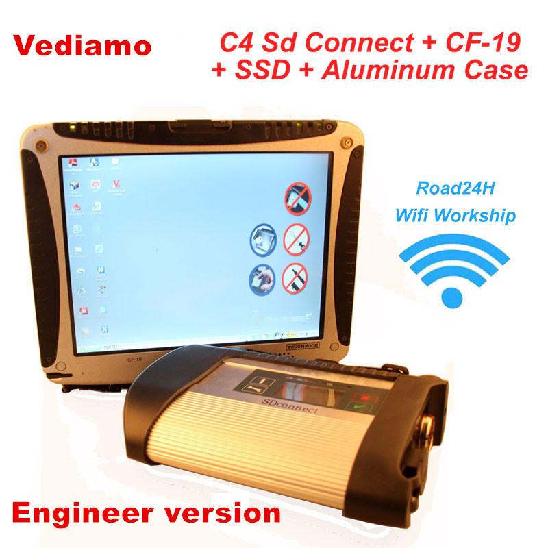 2016 CF19 + MB Star C4 SD Connect + SSD Xentry Diagnostics System Compact 4 Mercedes Diagnosis Multiplexer For Benz Diagnose(China (Mainland))