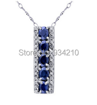 Freeshipping Perfact 100% natural sapphire necklace, each gem stone size is 3mm*4mm, total 5 pieces, decorate by swiss irishes<br><br>Aliexpress