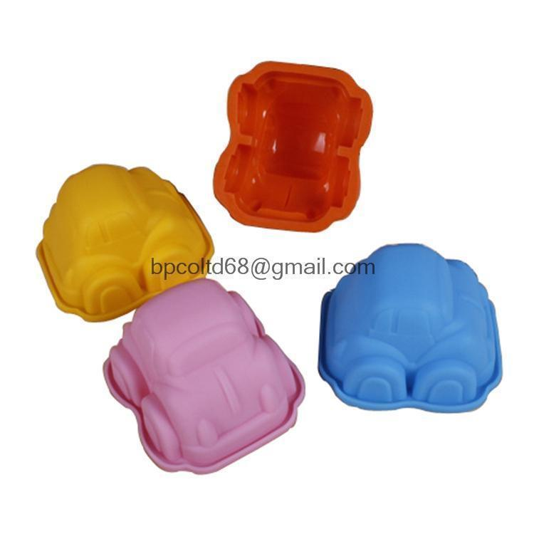 silicone bakeware cake molds car chocolate desserts mold FDA quality pastry moulds SCM-001-4(China (Mainland))