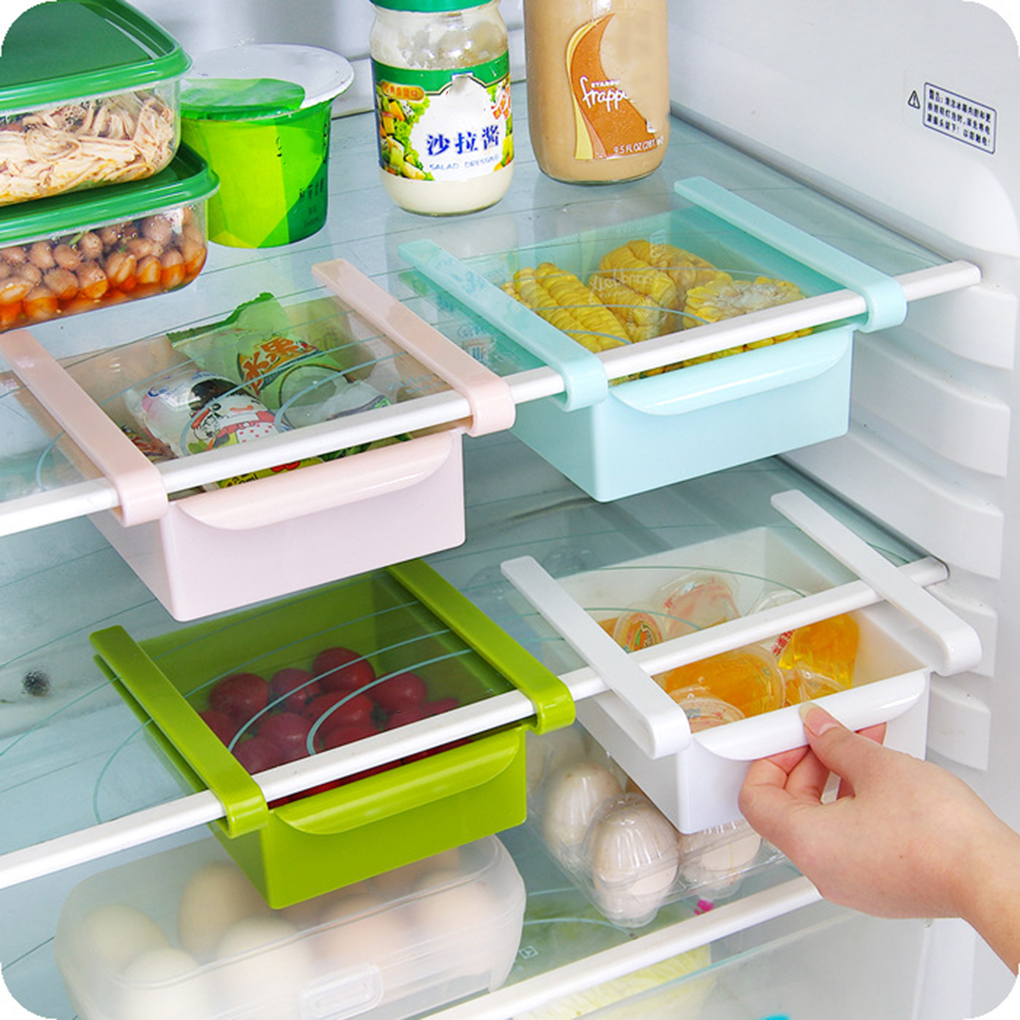 Multi Function ABS Refrigerator Storage Box Sliding Drawers Design Storage  Box Kitchen Accessories(China (