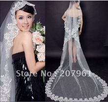 Free Shipping 100% Gurantee New Wholesale Retail Court Train Veils/long Veils/wedding veils/lace veils 10 piece/lot(China (Mainland))