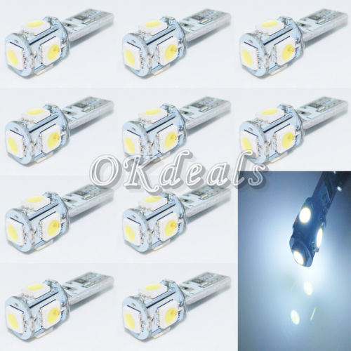 Источник света для авто Okdeals 194 168 W5W 10 T10 5050 SMD 5 Canbus источник света для авто wholesale led store 1 t10 194 168 w5w 1w smd