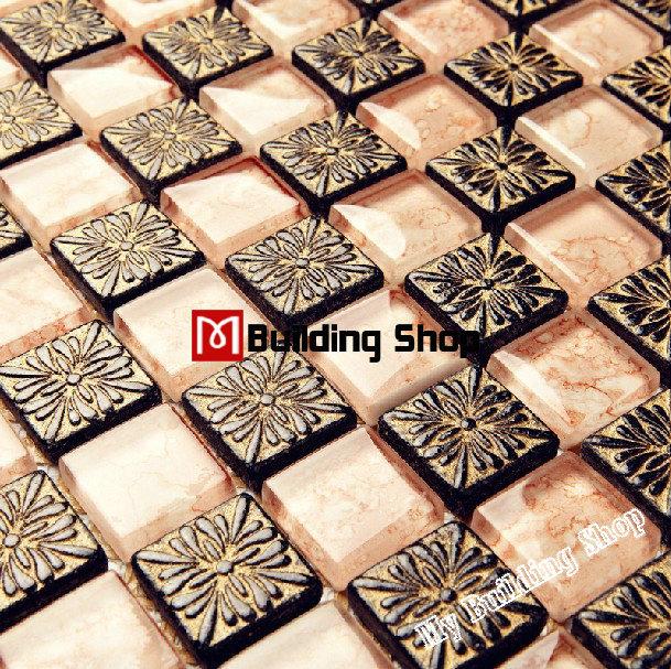 Crystal glass tile backsplash resin mosaic tiles RNMT015 glass mosaic kitchen tiles bathroom free shipping glass mosaic tiles<br><br>Aliexpress