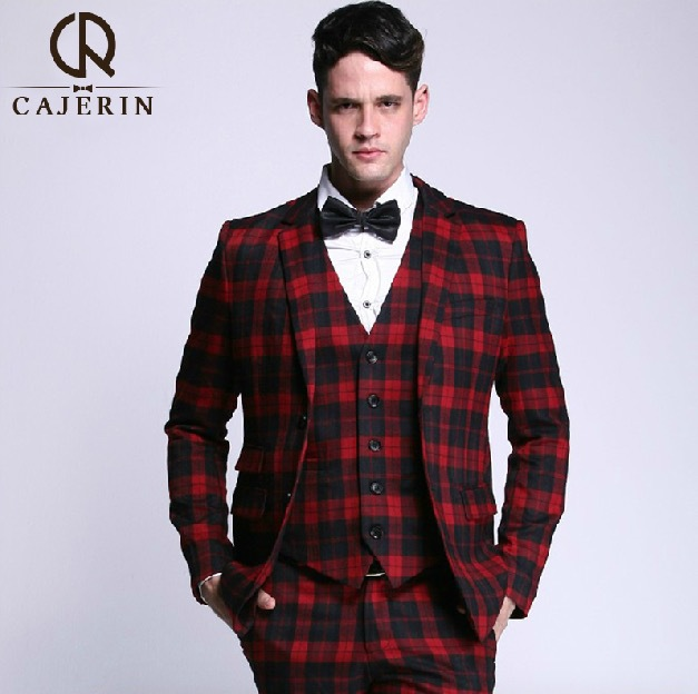 Popular Mens Red Plaid Suits-Buy Cheap Mens Red Plaid Suits lots