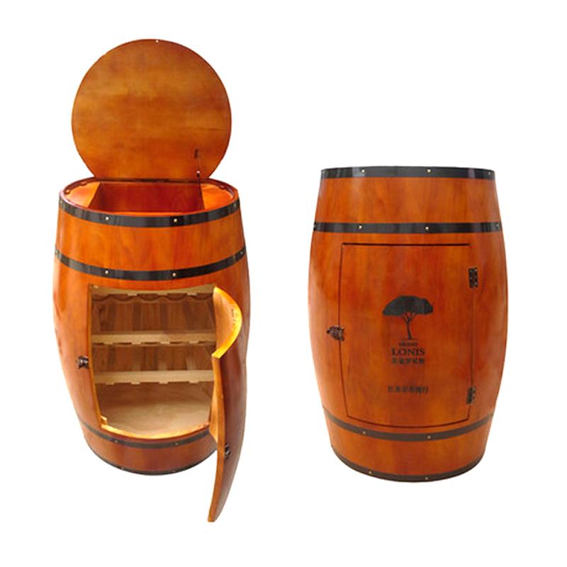 Oak Barrel Wine Rack Wooden Bucket Homebrew Home
