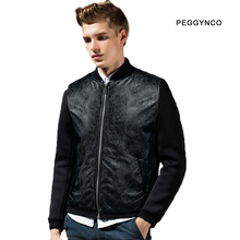 youth casual mens leather jacket male winter black quilted jackets plus size cool bullock carved motorcycle jackets for men(China (Mainland))