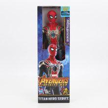 30cm MCU Super Herói figura Vingador 4 Endgame Thanos SpiderMan Homem de Ferro Capitão América Wolverine Thor Hulk Wolverine brinquedos(China)