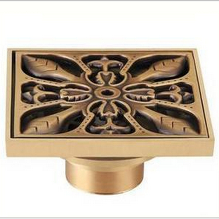 Гаджет  drains  Luxury Antique Copper Floor Drain Vintage Linear Shower Filter Vessel Bathroom Accessories Deodorant dish drainer tray  None Строительство и Недвижимость