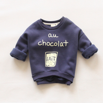 IVE 2016 New Children Fashion Hoodies Boys Warm Sweatshirts Girls Cute Sweater Kids Fashion Top Clothes IU429