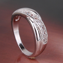 2015 Plain White Gold Engagement Rings for Women Vintage Finger Rings for Women White Gold Wedding