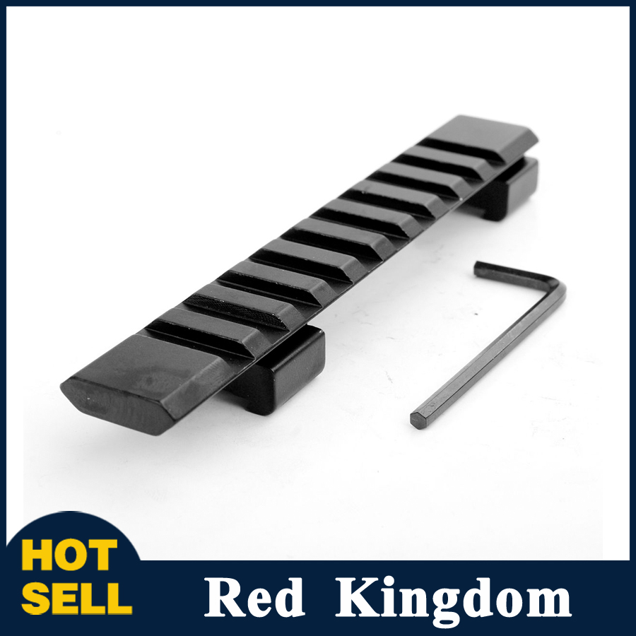 """11mm Rail Mount Aluminum Alloy Picatinny Weaver Rail with 10 Slots"""" 124mm Length for Hunting Rifle / Air Gun Scope Mount(China (Mainland))"""