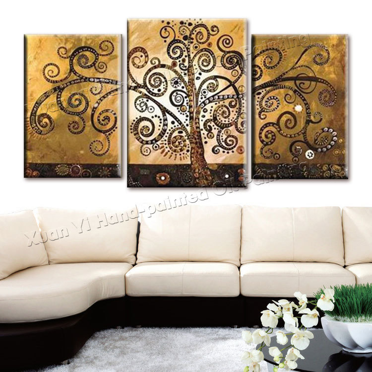 3 piece canvas wall art hand painted canvas abstract oil. Black Bedroom Furniture Sets. Home Design Ideas