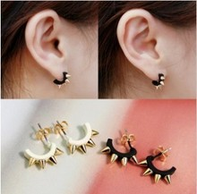 ES378 Min.order is $8 (mix order) Christmas Gift U-type Earrings Fashion Punk Rivet Wholesale! Free shipping!