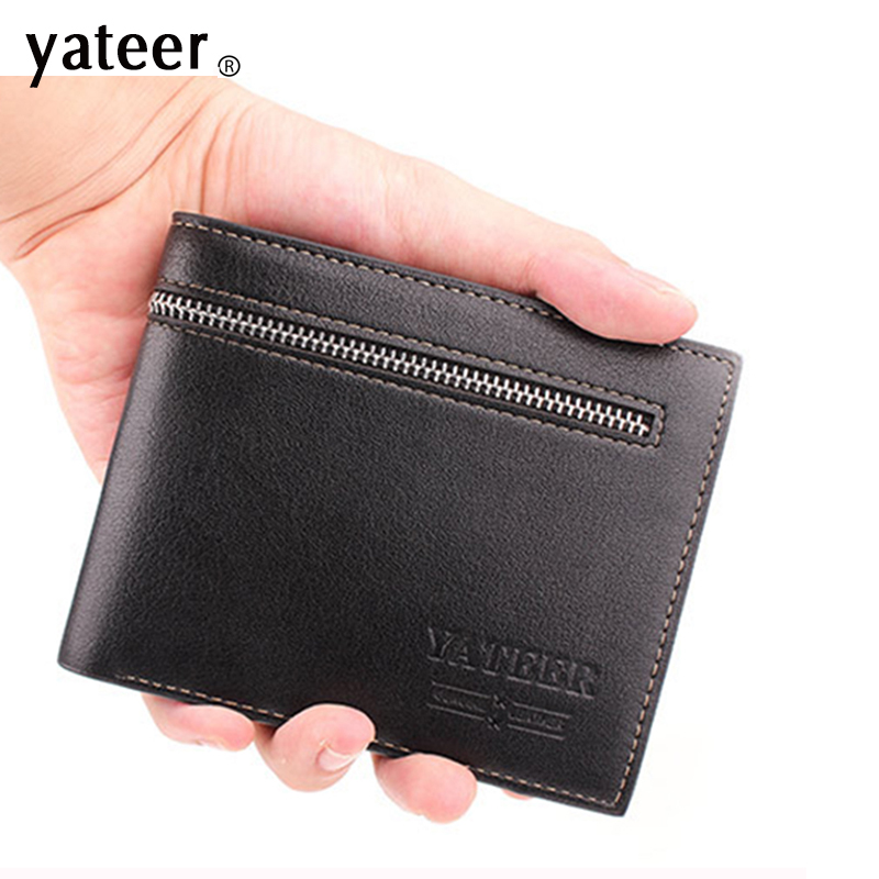 leather wallet men quality assurance pu leather purse credit card holder male wallets small wholesale price cheap(China (Mainland))