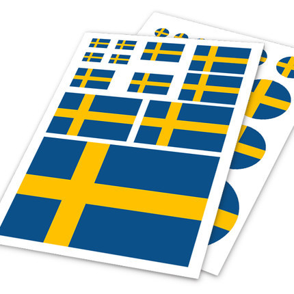 Swedish Flag Sweden SWE Car Auto Motorcycle Decal Set Sticker Helm Scratch Off Cover Ipad Notebook Laptop Handy Car Styling<br><br>Aliexpress
