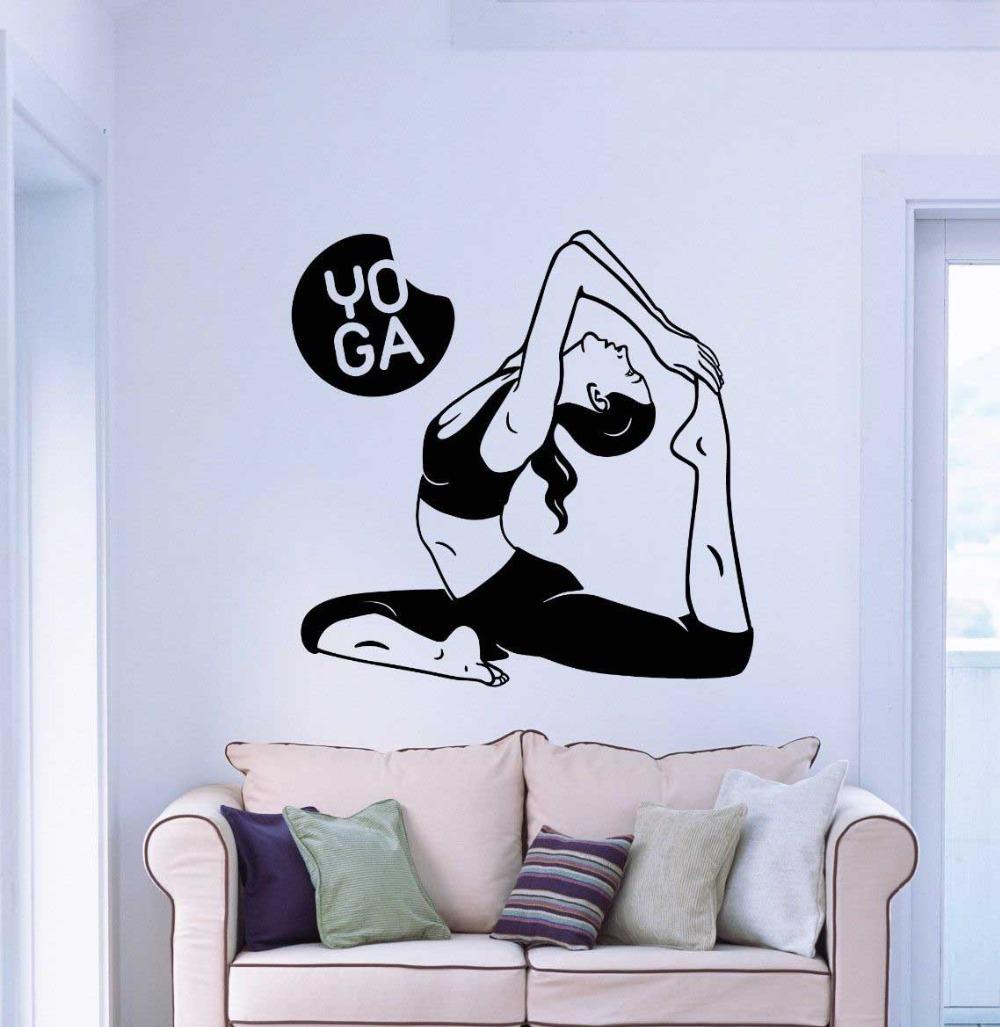 2015 Sport Wall Sticker Home Decor Buddha Yoga Meditation Vinyl Decal Wall Art Mural Paper stikers